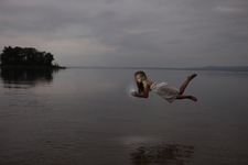 Photography courses and workshops - Girl flying over water