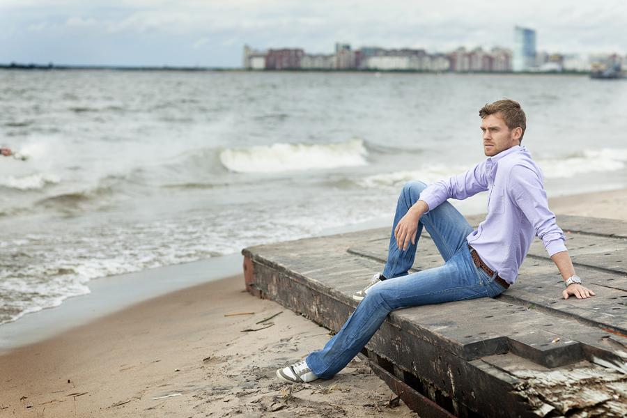 Nicolas Lombaerts on the beach. ??????? ????????.  ????? ?????????. Zenit