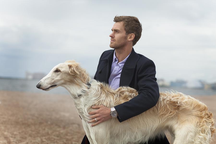 Nicolas Lombaerts portrait with dog. ??????? ????????. ????? ?????????. Zenit