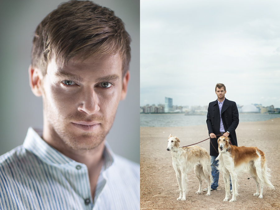 Nicolas Lombaerts with the dog. ??????? ????????