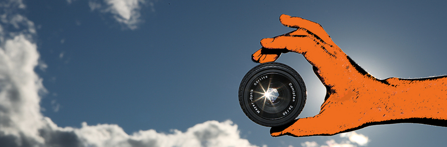 photography lens in the sky