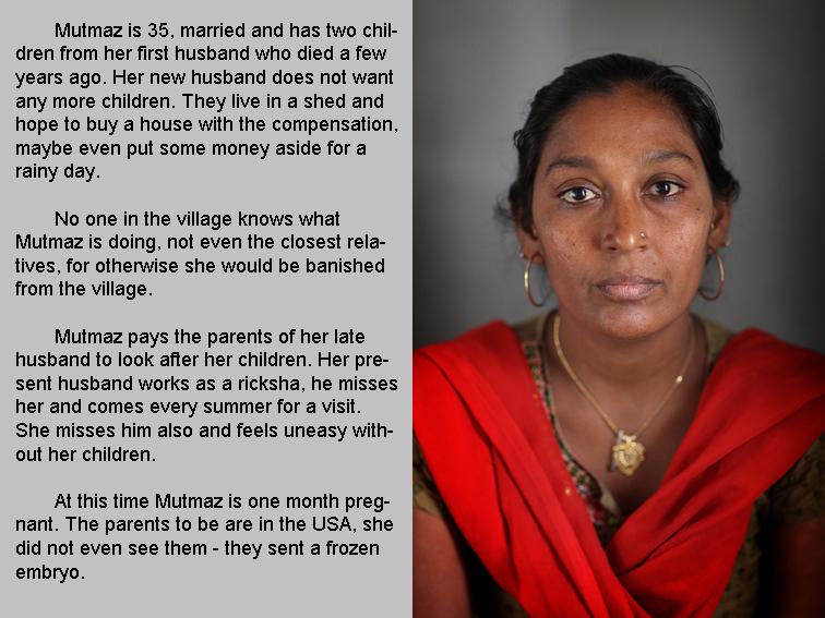 Mumtaz. Indian surrogate mother. Dr.Patel's clinic.??????????? ??????? ? ?????.Indiens mères porteuses