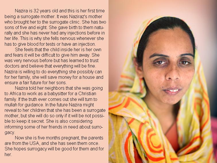 Nazira Indian surrogate mother. Dr. Patel's clinic.??????????? ??????? ? ?????.Indiens mères porteuses