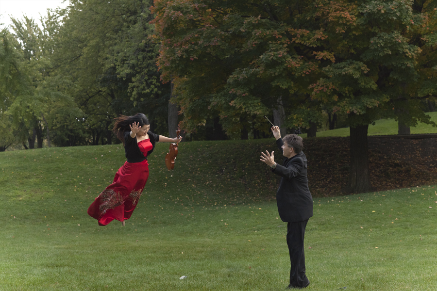 Photography workshop with Orchestre de Chambre Nouvelle flying in the air (2)