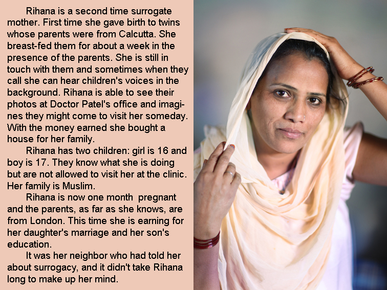Rihana. Indian surrogate mother. Dr.Patel's clinic.??????????? ??????? ? ?????.Indiens mères porteuses