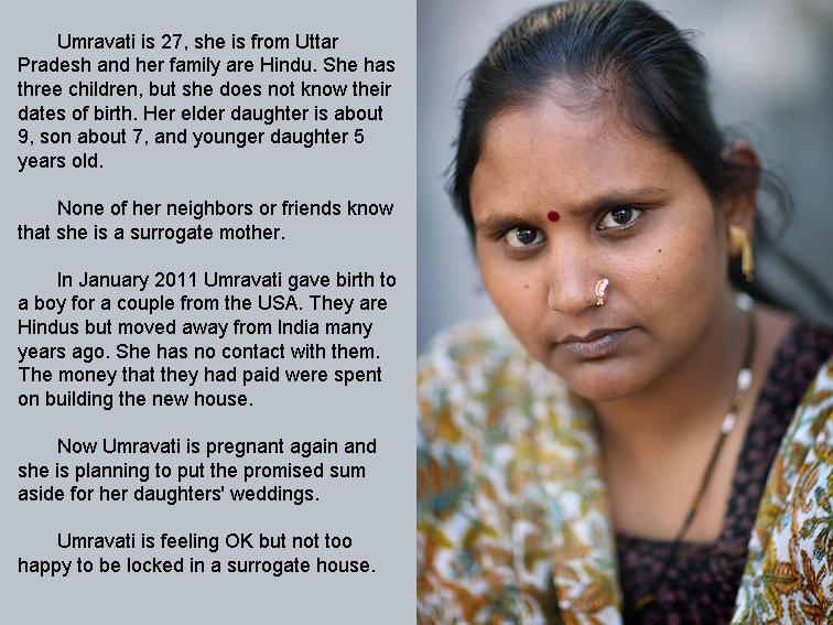 Indian surrogate mother Umravati. Dr.Patel's clinic.??????????? ??????? ? ?????. Indiens mères porteuses
