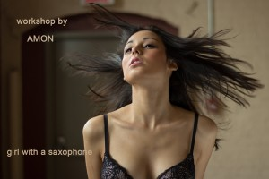 Photography courses and workshops in Montreal. Author Amon: The girl with a saxopnone (2)