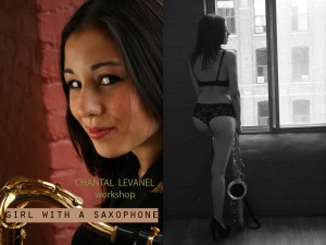 Photography workshop in Montreal. The girl with a saxophone. Author Chantal (1)