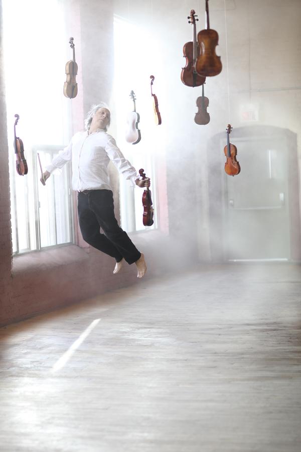 Flying violinist