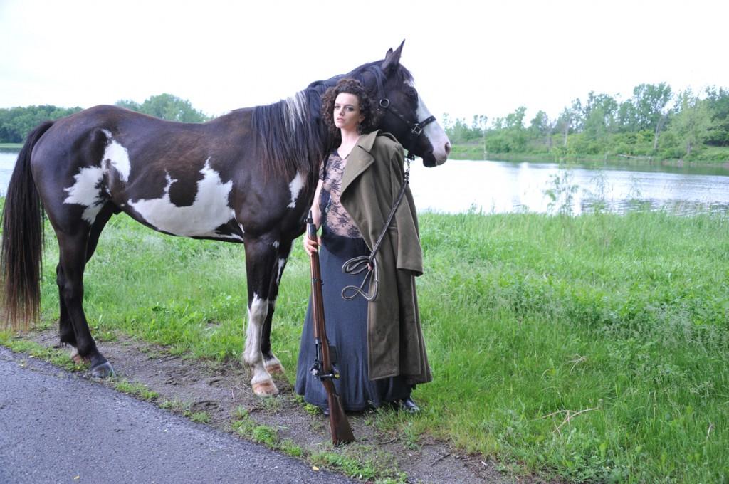 Seme nude on a horse (2)