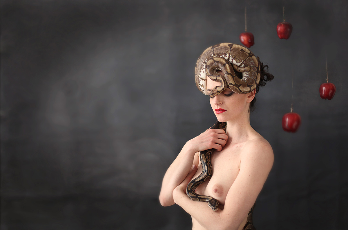 A girl and the snake