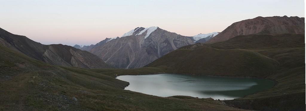 teshik kol lake. Kyrgyzstan